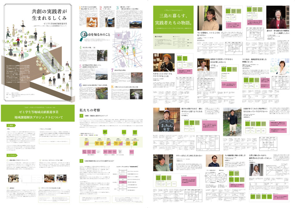 「デザイン×ICT×共創」による地域課題解決プロジェクト 共創の実践者が生まれるしくみ パンフレット